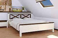 Кровать Нормандия 160-200 см (ваниль + темный орех)