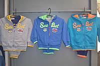 Спортивные трикотажные костюмы троечки для мальчиков 6/9-36 месяцев.Фирма CROSSFIRE,Венгрия, фото 1