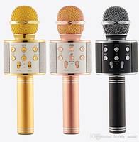 Беспроводной караоке-микрофон -Wster Ws-858 с динамиком