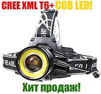 Фонарь налобный Police 12V C861-T6+COB BL-2402 Т6(WD360), ПОЛНЫЙ КОМПЛЕКТ!