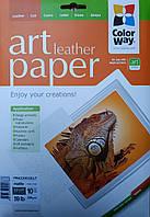 Фотобумага ColorWay А4 матовая, 220 г/м2, 10 л, кожа