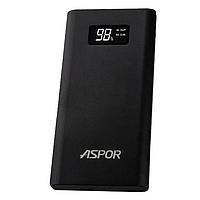 Powerbank аккумулятор Aspor A387-S10000 mAh ПавербанкУМБ черный