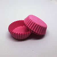 Тарталетка бумажная для конфет Розовая 3а, d=30мм. h=9мм (упаковка 100шт)