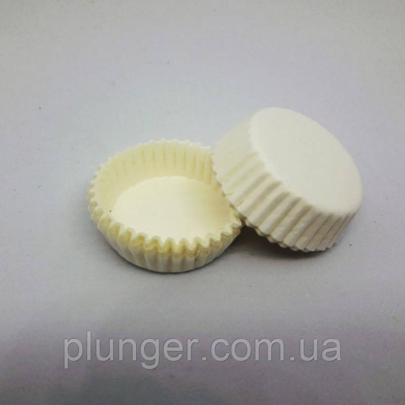 Тарталетка бумажная для конфет Белая 3а, d=30мм. h=9мм