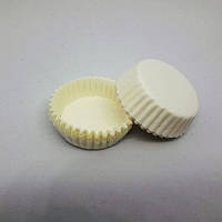 Тарталетка бумажная для конфет Белая 3а, d=30мм. h=9мм (упаковка 110шт)