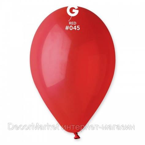 Шарик воздушный 10 дюймов (25 см) пастель КРАСНЫЙ, фото 2