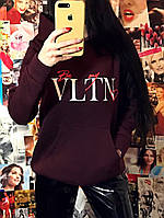 """Худи женский на флисе """"VLTN"""", фото 1"""