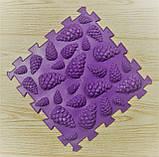 Ортопедический коврик пазл - Шишки (Микс) (1шт), разные цвета, фото 3