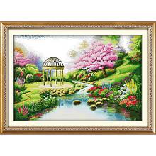 Набор для вышивания картины Романтичный сад