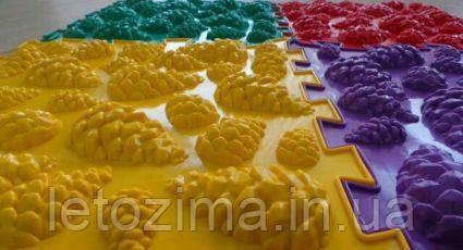 Ортопедический коврик пазл - Шишки (Микс) (1шт), разные цвета