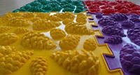 Ортопедический коврик пазл - Шишки (Микс) (1шт), разные цвета, фото 1