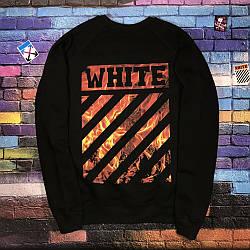 Свитшот OFF WHITE Fire black • NEW 2019