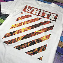 Мега Футболка  OFF WHITE Fire • NEW, фото 3