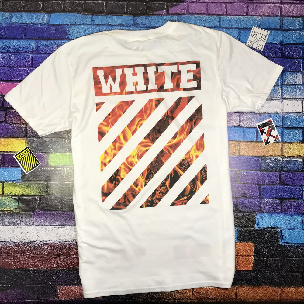 Мега Футболка  OFF WHITE Fire • NEW