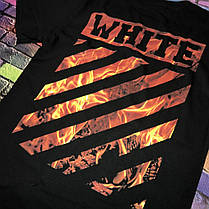 Мега Футболка OFF WHITE Black Fire • 2019 NEW, фото 2