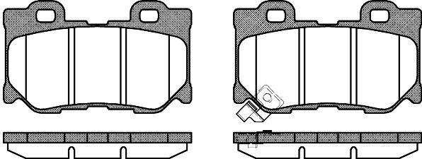 Колодка торм. INFINITI FX50 3.7I 24V, 5.0I 32V 08/10-,09/06- передн. (пр-во REMSA) 1365.01
