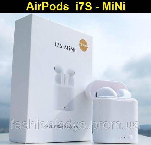 Беспроводные наушники I7s TWS Bluetooth mini с магнитным кейсом аналог AirPod Apple