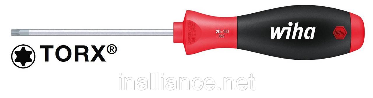 Отвертка T15 х 80 мм TORX® круглое жало, SoftFinish Wiha 01291