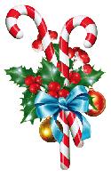 """Вырубка средняя увеличенная """"Новогодние карамельки в декоре"""" (225х330мм)"""
