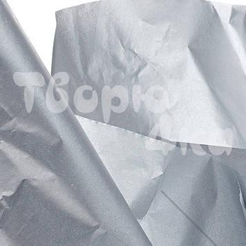 Тишью бумага декоративная серебро 50 х 70см (100 листов)
