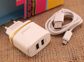 Зарядний пристрій LDNiO A-052 Адаптер+кабель MicroUSB