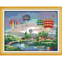 Набор для вышивания крестиком Воздушные шары