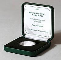 Серебряная монета Молдавии 50 лей 2012 г. Орхидея. Пруф. В футляре