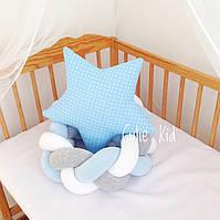 Бортик косичка в детскую кроватку, Защита в кроватку