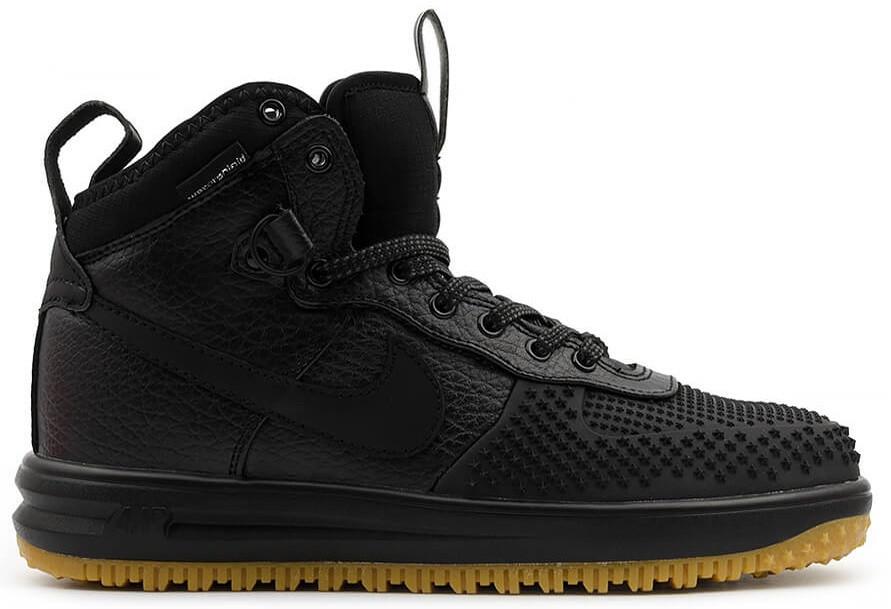 Мужские кроссовки Nike Lunar Force 1 Duckboot (Найк Форс Дакбут) черные - Магазин  обуви 8f9ed17c6ce