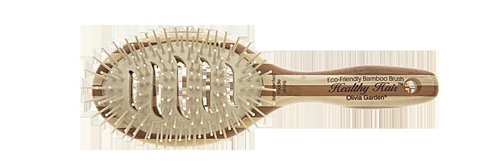 Щетка массажная бамбуковая Olivia Garden Healthy Hair P5 Oval Vent Epoxy Ionic Paddle, OGBHHP5