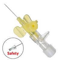 Внутрішньовенний катетер G 24 в/в Vasofix Safety PUR (0,7х19мм), жовта, фото 2