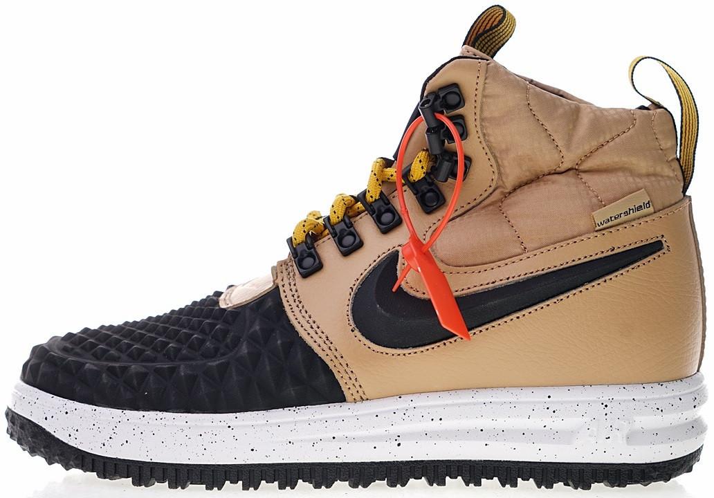 Мужские кроссовки Nike Lunar Force 1 Duckboot  17 Metallic Gold Найк Лунар  Форс Дакбут коричневые 2ff4411a778