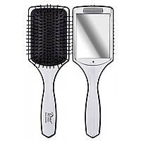 Массажная щетка для волос c зеркалом Olivia Garden Duo, OGBDUO, фото 1