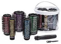 Набор термобрашингом Olivia Garden MultiBrush starter kit со съемной рукояткой, диаметры 26/36/46/56/66 мм, фото 1