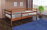 Кровать Соня 80 х 190 см с защитным бортиком (орех темный)