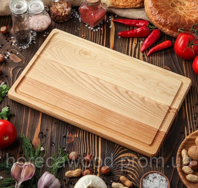 Кухонная деревянная доска для нарезки 40х25 см