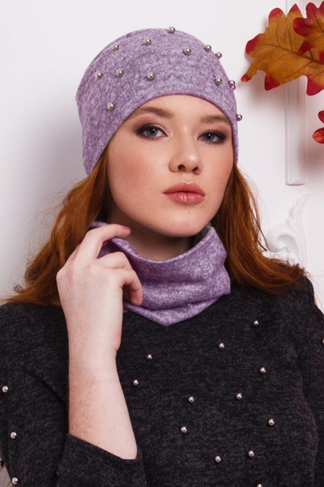 шапка из ангоры, ангоровая шапка, зимняя шапка с бусинами