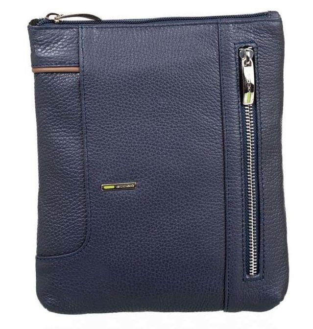 Чоловіча шкіряна сумка Acciaio Formula синій