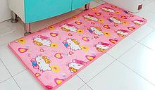 Флисовый коврик «Hello Kitty» 50×120 см розовый