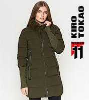 Куртка удлиненная зимняя женская Киро Токао  - 1719N хаки