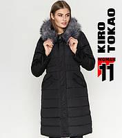 Куртка удлиненная зимняя женская Киро Токао - 8606D черная