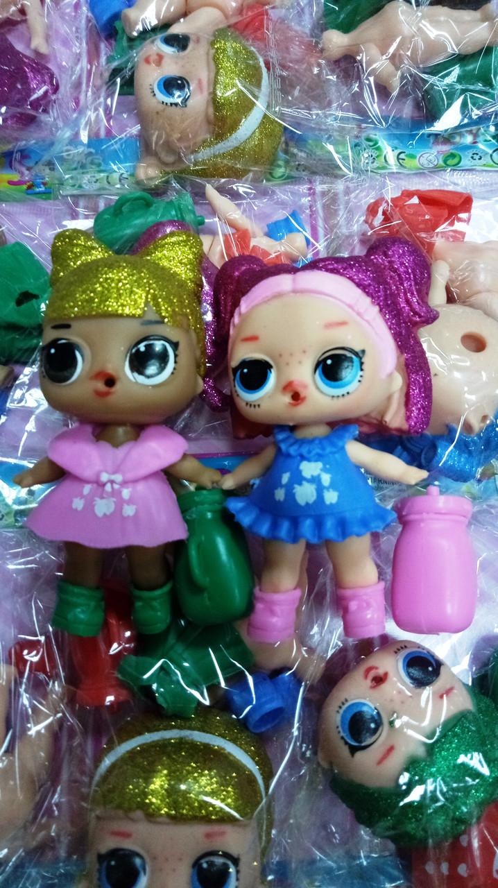 "Кукла сюрприз ""LOL Glitter"" на листе"