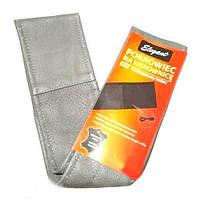 """Оплетка руля Elegant кожа """"премиум"""" цвет  серый-серый перфорированный размер L 39-40 см  EL 105 018"""