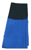 """Оплетка руля Elegant кожа """"премиум"""" цвет черно-голубой размер M 37-38 см  EL 105 062"""