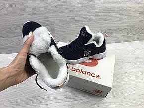 Зимние подростковые кроссовки New Balance 608,замшевые,темно синие, фото 2