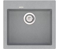 Кухонная мойка из кварцевого камня квадратная Vankor Orman OMP 01.49 Gray Stone серый