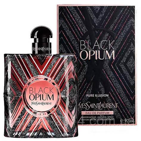 Жіноча парфумована вода Yves Saint Laurent Black Opium Pure Illusion (репліка), фото 2