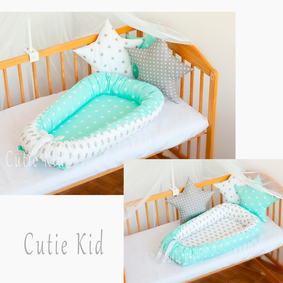Двусторонний кокон-гнездышко для новорожденных, детская кроватка, К-02