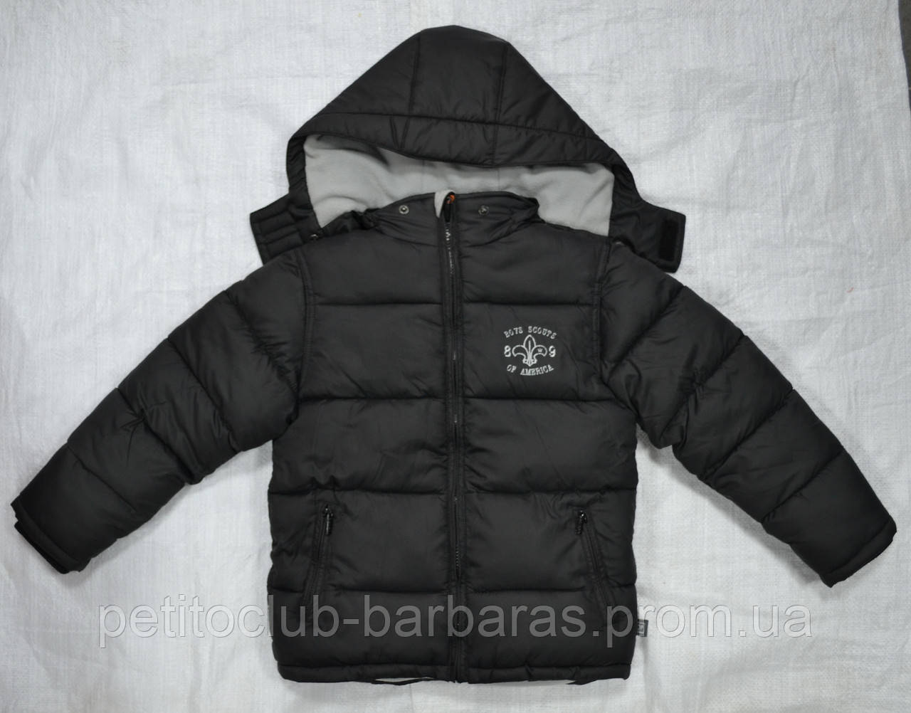 Куртка зимняя Boys Scouts of America для мальчика черная (QuadriFoglio, Польша)