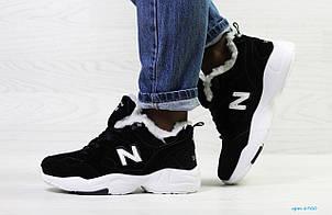 Зимние подростковые кроссовки New Balance 608,замшевые,черно-белые, фото 2